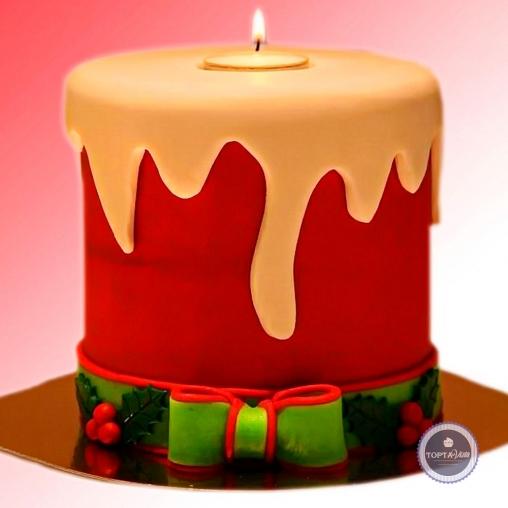 Новогодний торт - Свеча