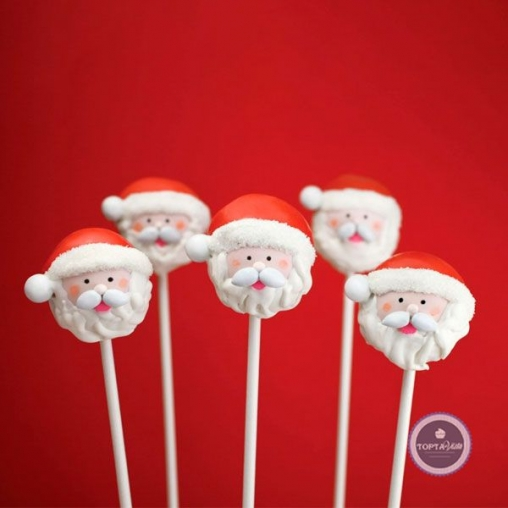 Кейк-попсы Санта леденец