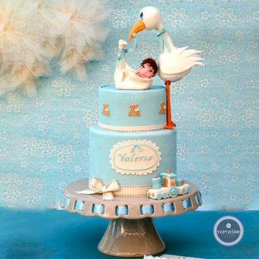 Детский торт - Аист прилетел