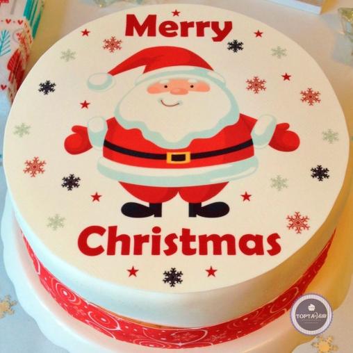 Новогодний торт - Merry Christmas