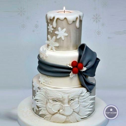 Новогодний торт - Новогодняя свеча