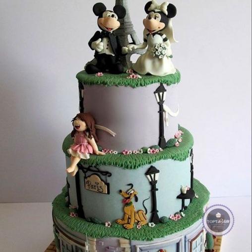 Свадебный торт Минни и Маус