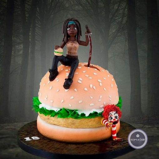 Праздничный торт Бургер Help