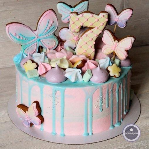 Детский торт - Полёт бабочки