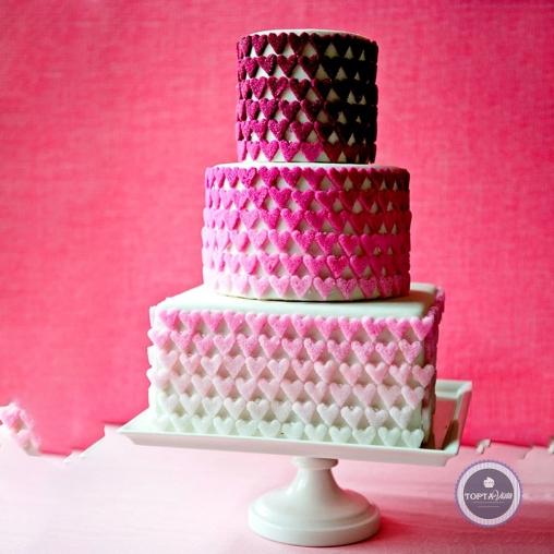 Свадебный торт - Сердечки