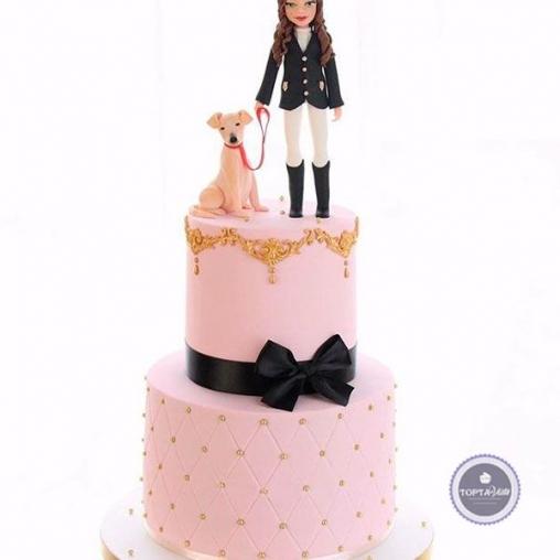 Торт для женщин Дама с собачкой