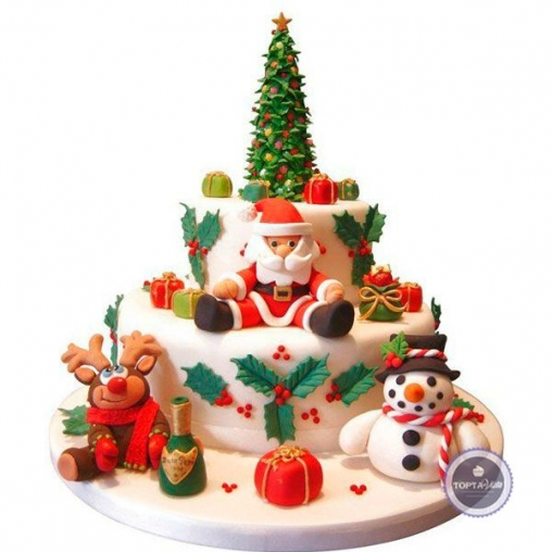 Новогодний торт Весёлый