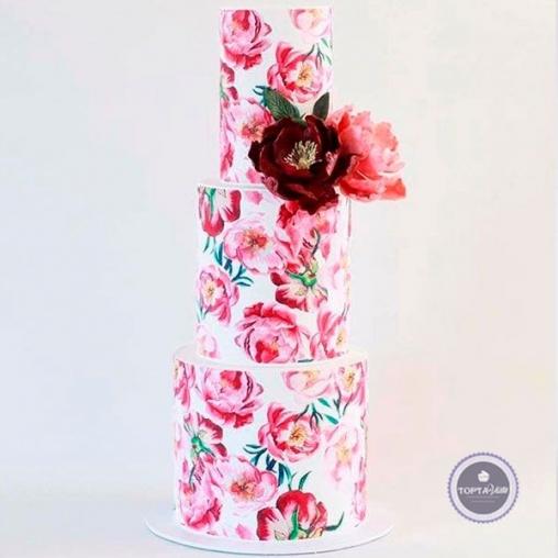 Свадебный торт Сливки