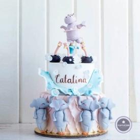 Детский торт - Лебединое озеро