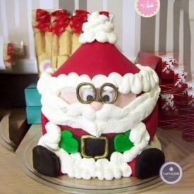 Новогодний торт - Усталый Санта
