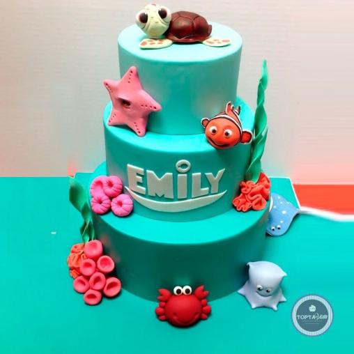 Детский торт - Морские друзья