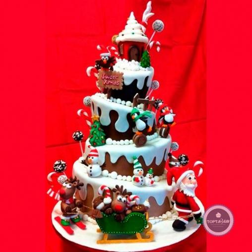 Новогодний торт Шоко ёлочка