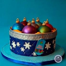 Новогодний торт - Шарики