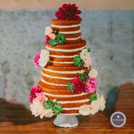 Свадебный торт - Крем-брюле