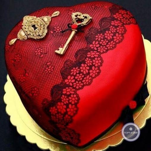 Торт для женщин Ключ к сердцу